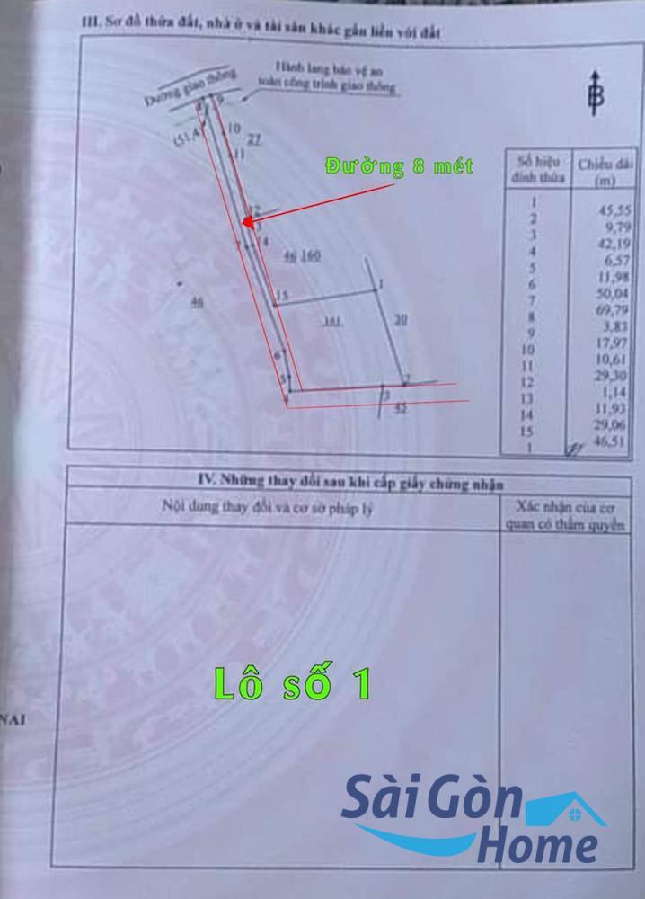 Bán nhanh lô đất 2 mặt tiền 2.500 m2,  cách chợ Phú Tân , Định Quán, Đồng Nai 800m